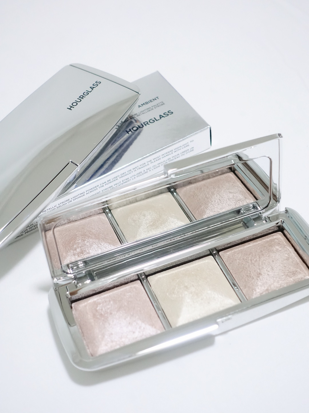 Hourglass Ambient Metallic Strobe Lighting Palette | joanne-khoo.com