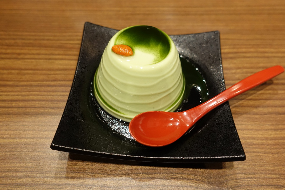 Taipei Ichiran 一蘭拉麵 - Matcha Almond Pudding w Green Tea Sauce | joanne-khoo.com