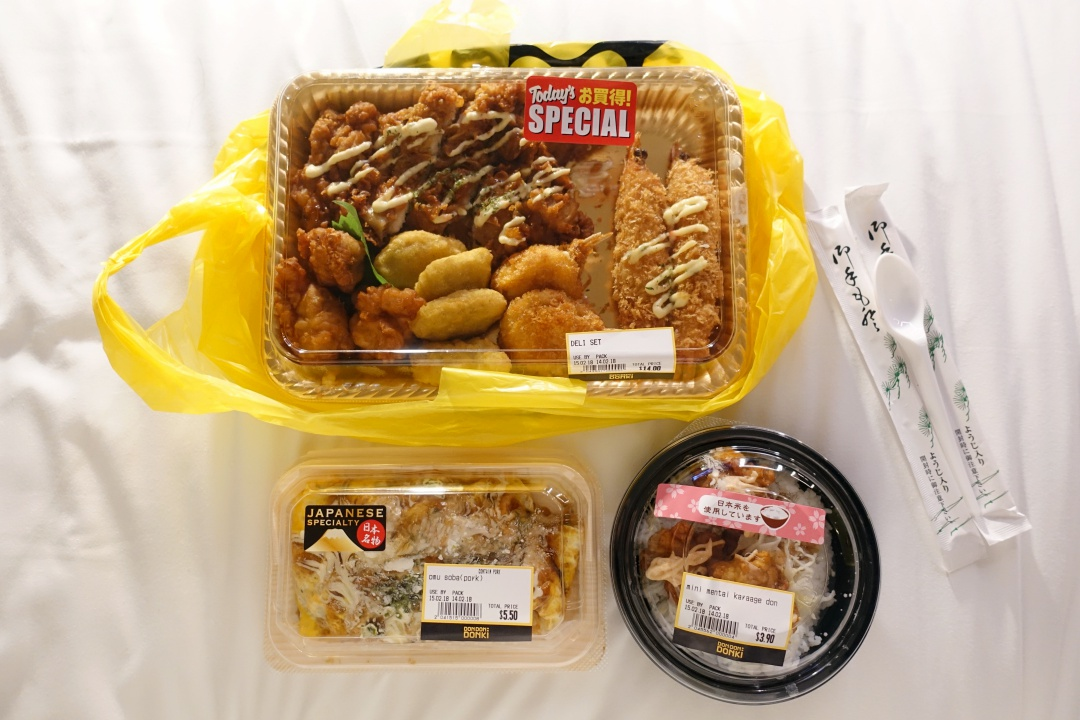 Don Don Donki - Omelette Soba and Chicken Karaage Don | joanne-khoo.com