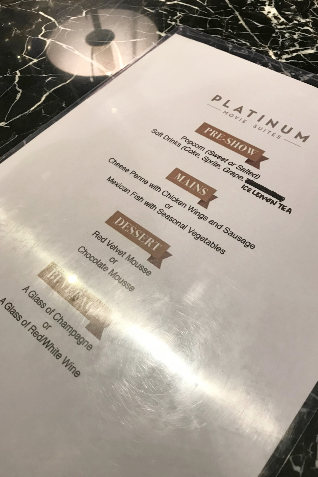 The Cathay - Platinum Movie Suites - F&B Menu | joanne-khoo.com