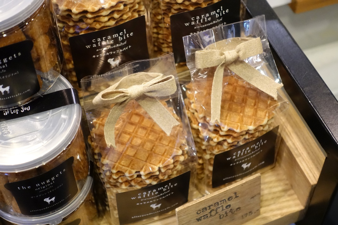 2018 Bangkok Terminal 21 - After You Dessert Cafe Caramel Waffle Bite | joanne-khoo.com