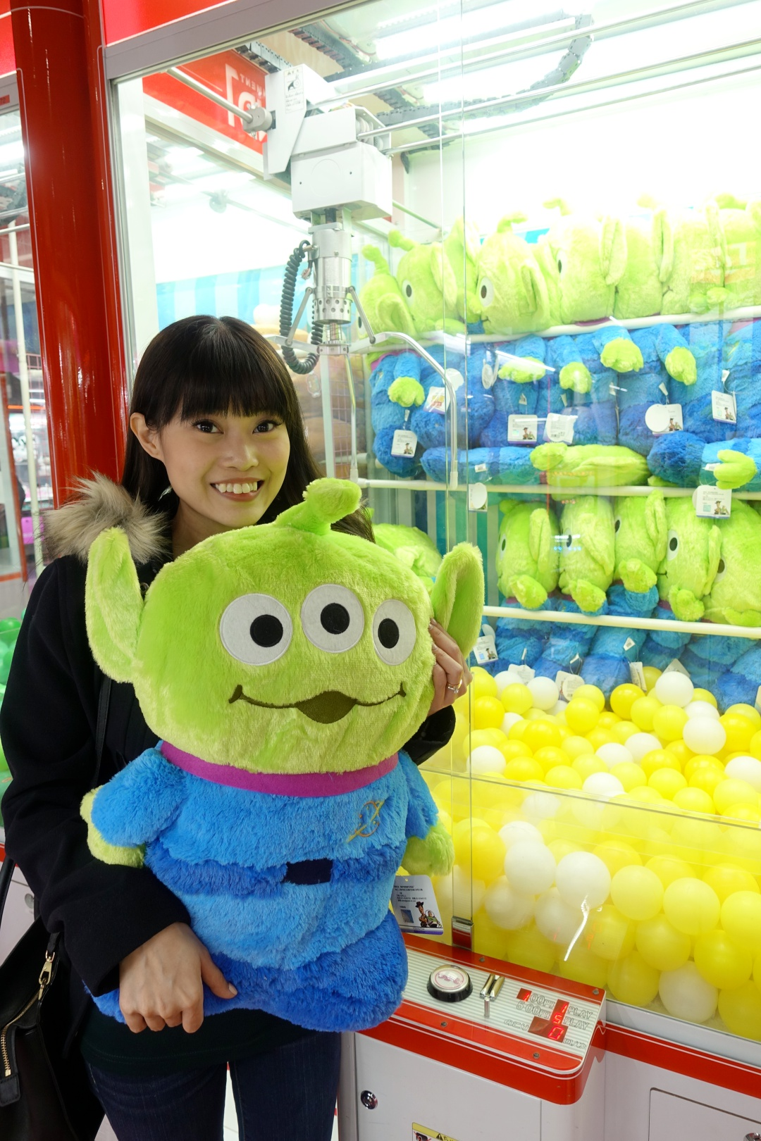 2018 Osaka Japan Arcade Claw Machine | Toy Story Three Eye Alien | joanne-khoo.com
