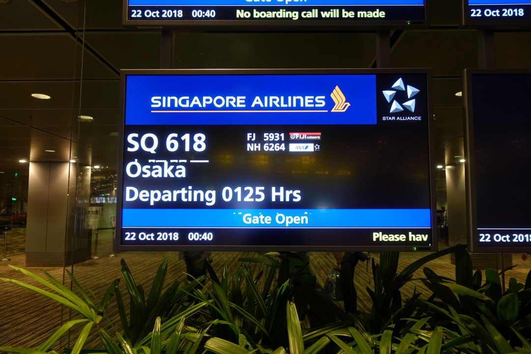 Flight - Singapore to Osaka | joanne-khoo.com
