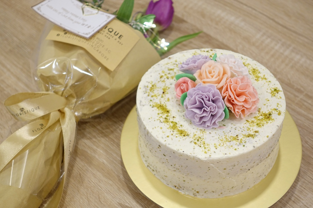 Mother's Day 2019 | Neo Garden Catering - Pistachio Lemon Buttercream Cake | joanne-khoo.com