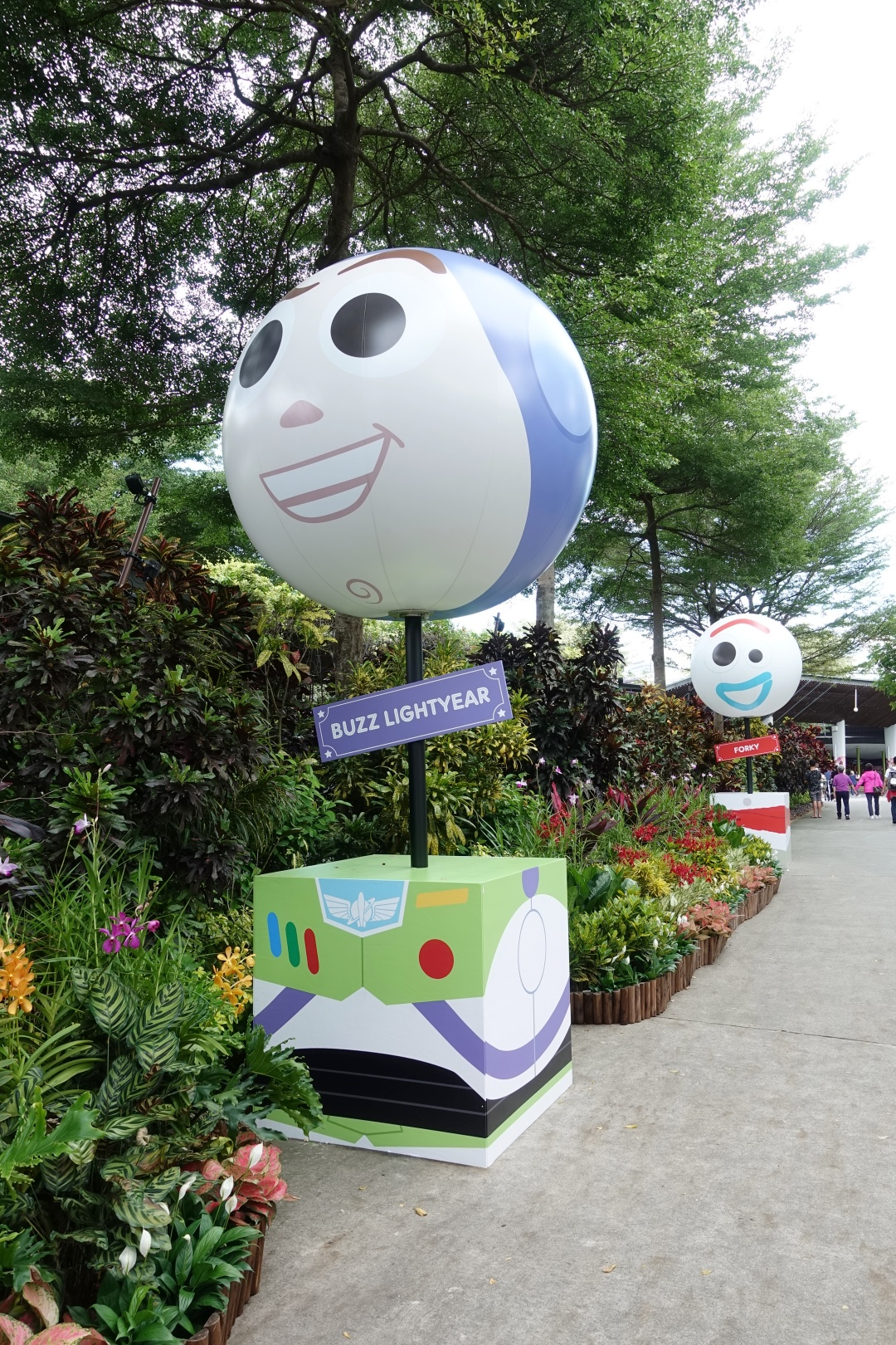Buzz Lightyear and Forky Toy Story theme balloon at Children's Festival | joanne-khoo.com