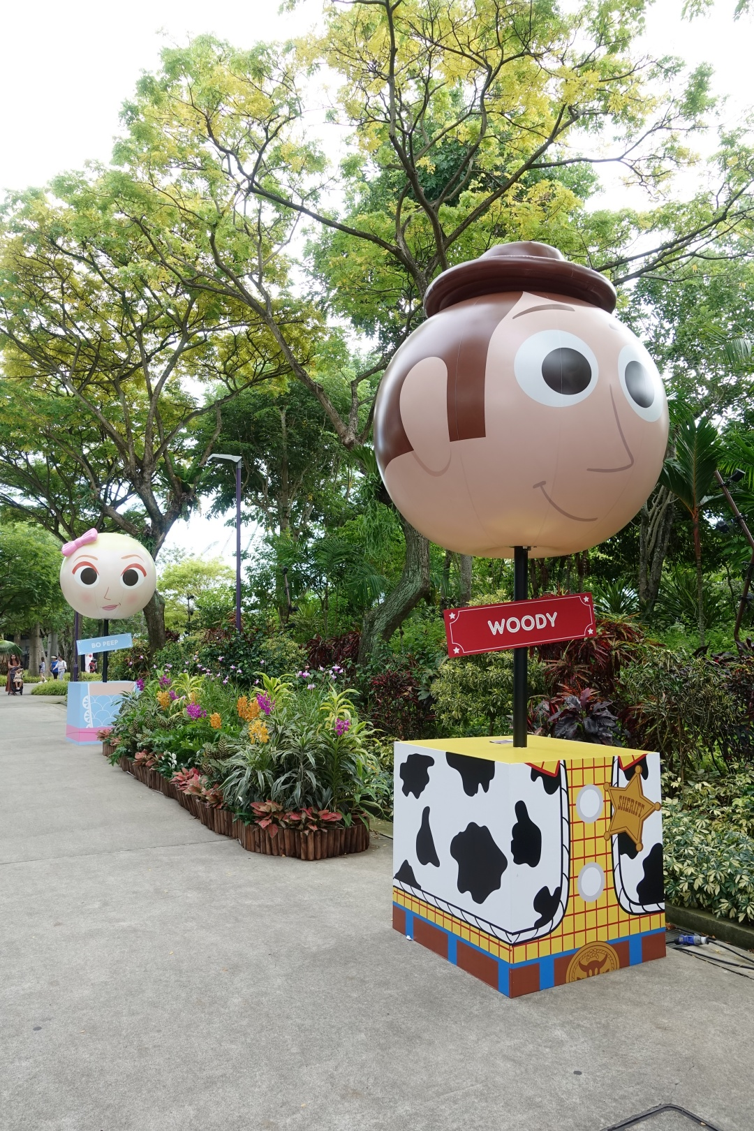 Woody and Bo Peep Toy Story theme balloon at Children's Festival | joanne-khoo.com
