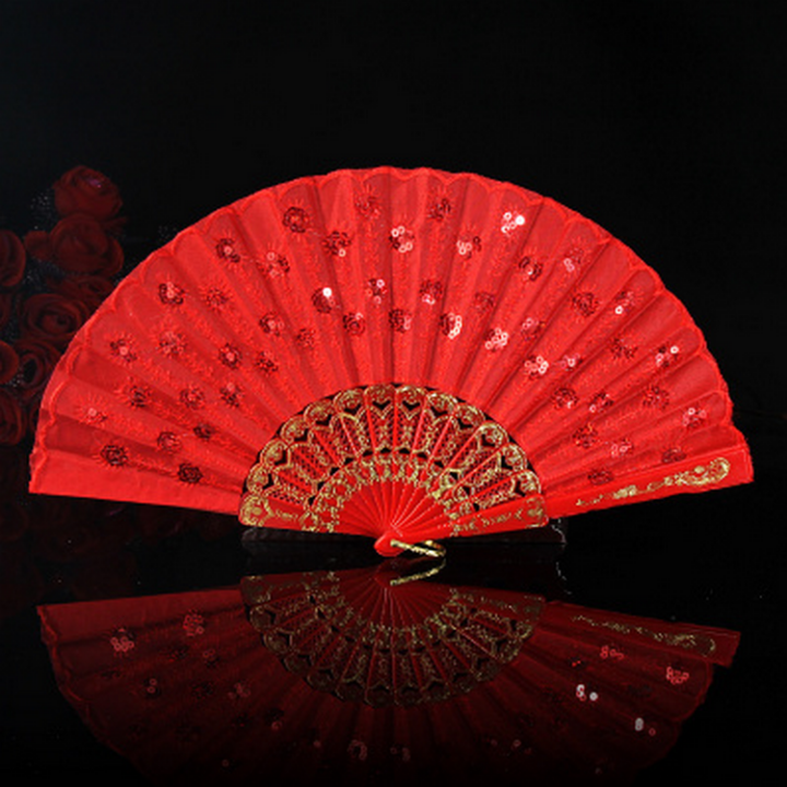 Wedding Red Folded Fan 结婚折扇红色 | joanne-khoo.com