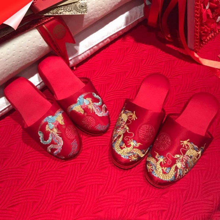 Wedding Indoor Slippers 结婚拖鞋 | joanne-khoo.com