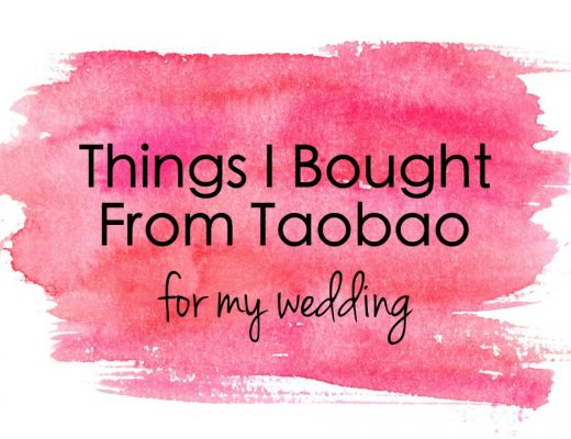 Things I Bought From Taobao for My Wedding | joanne-khoo.com