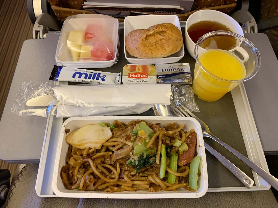 Singapore Airlines In-flight Meal - Fried Kway Teow | joanne-khoo.com