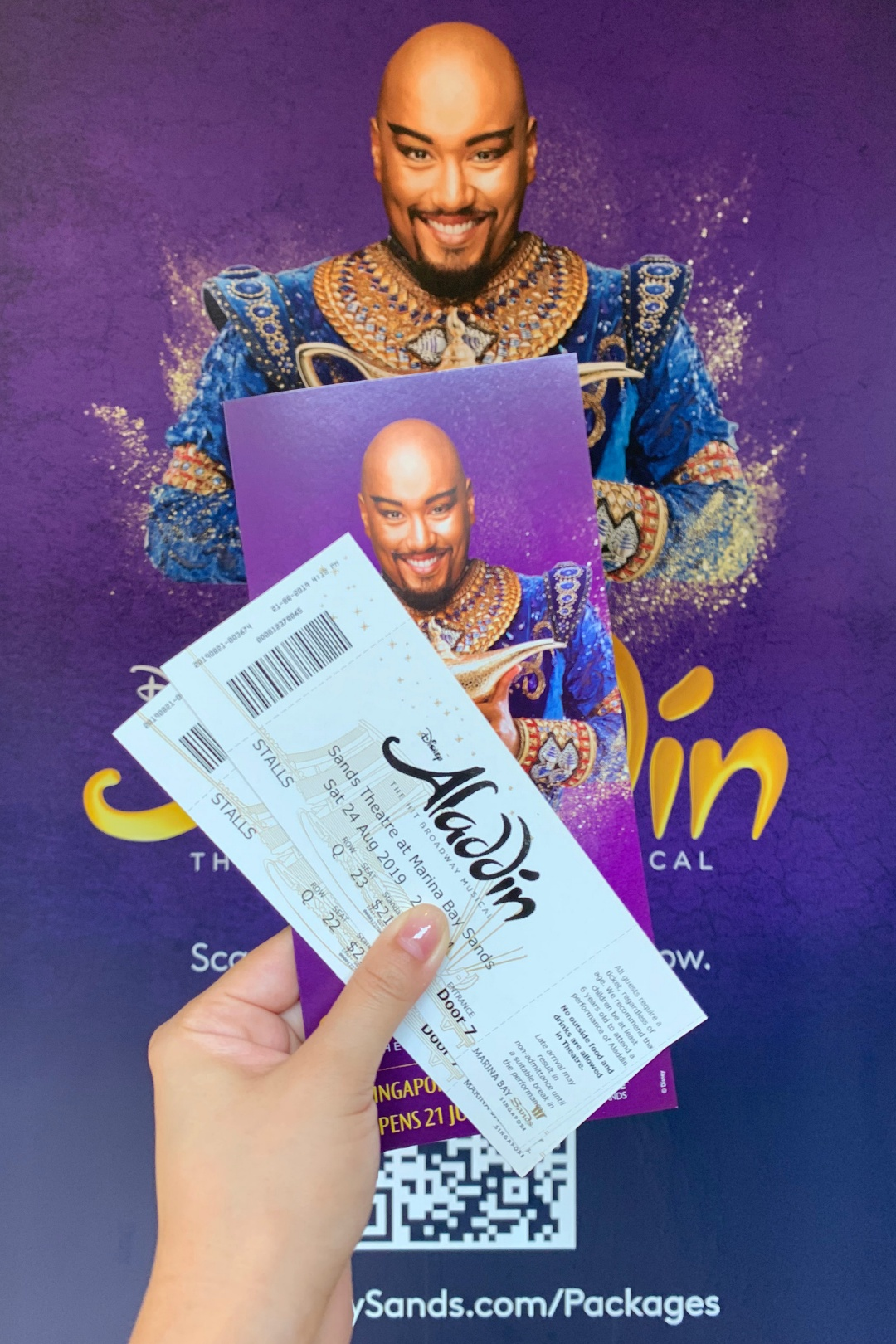 Aladdin Musical at Marina Bay Sands | joanne-khoo.com