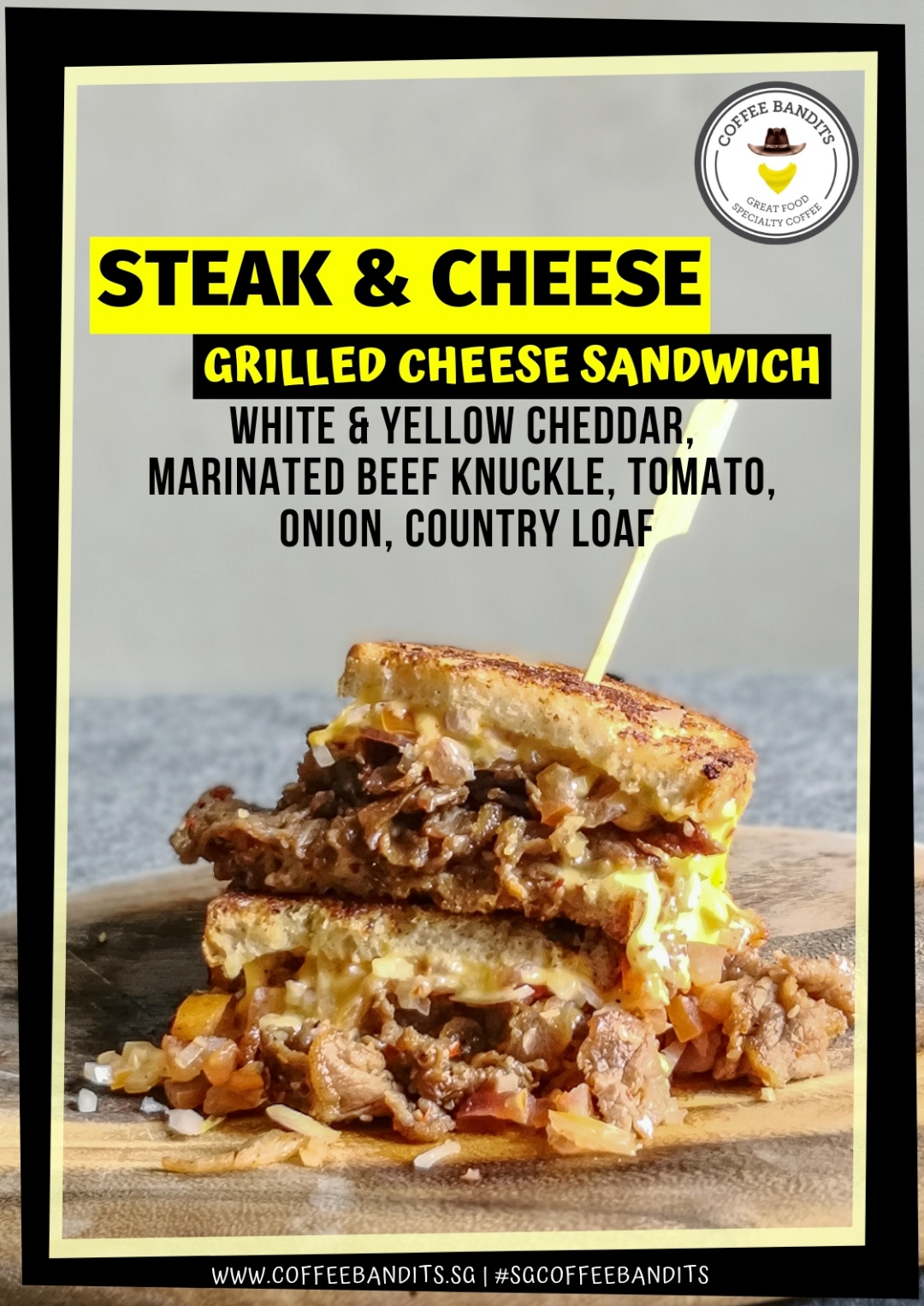 Steak & Cheese Grilled Cheese Sandwich | joanne-khoo.com