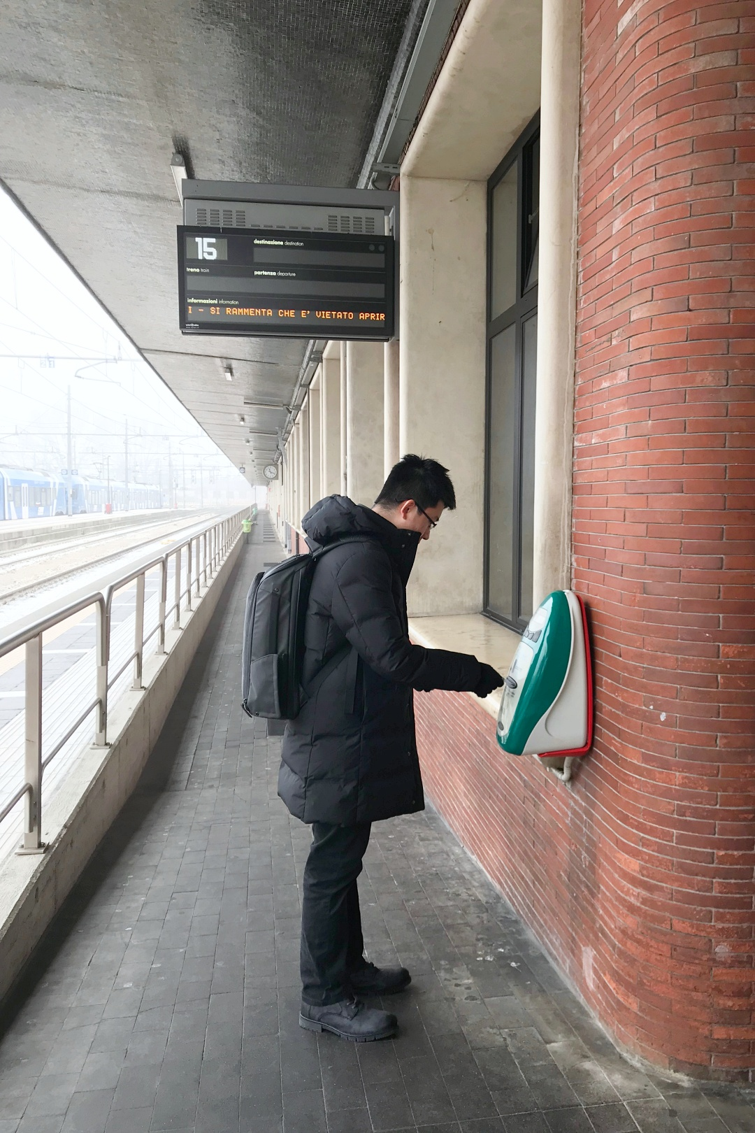 Validating Train Tickets in Venice | joanne-khoo.com