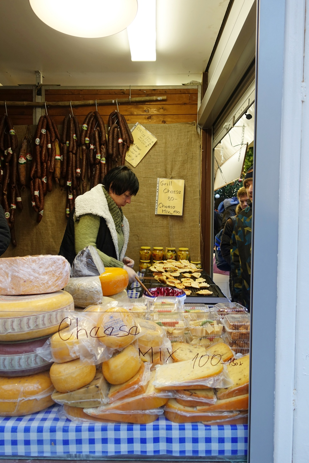 Prague Old Town Square Christmas Market - Grilled Cheese | joanne-khoo.com